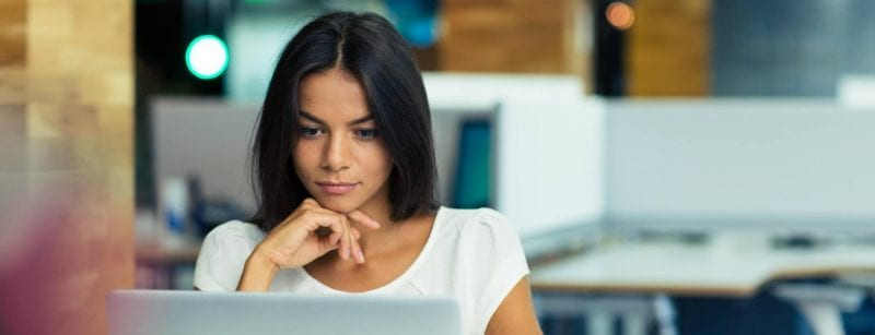 Female GDPR Consultant at Laptop as example of GDPR Consultants in Burton on Trent and Derby - Outsourcing Service Support