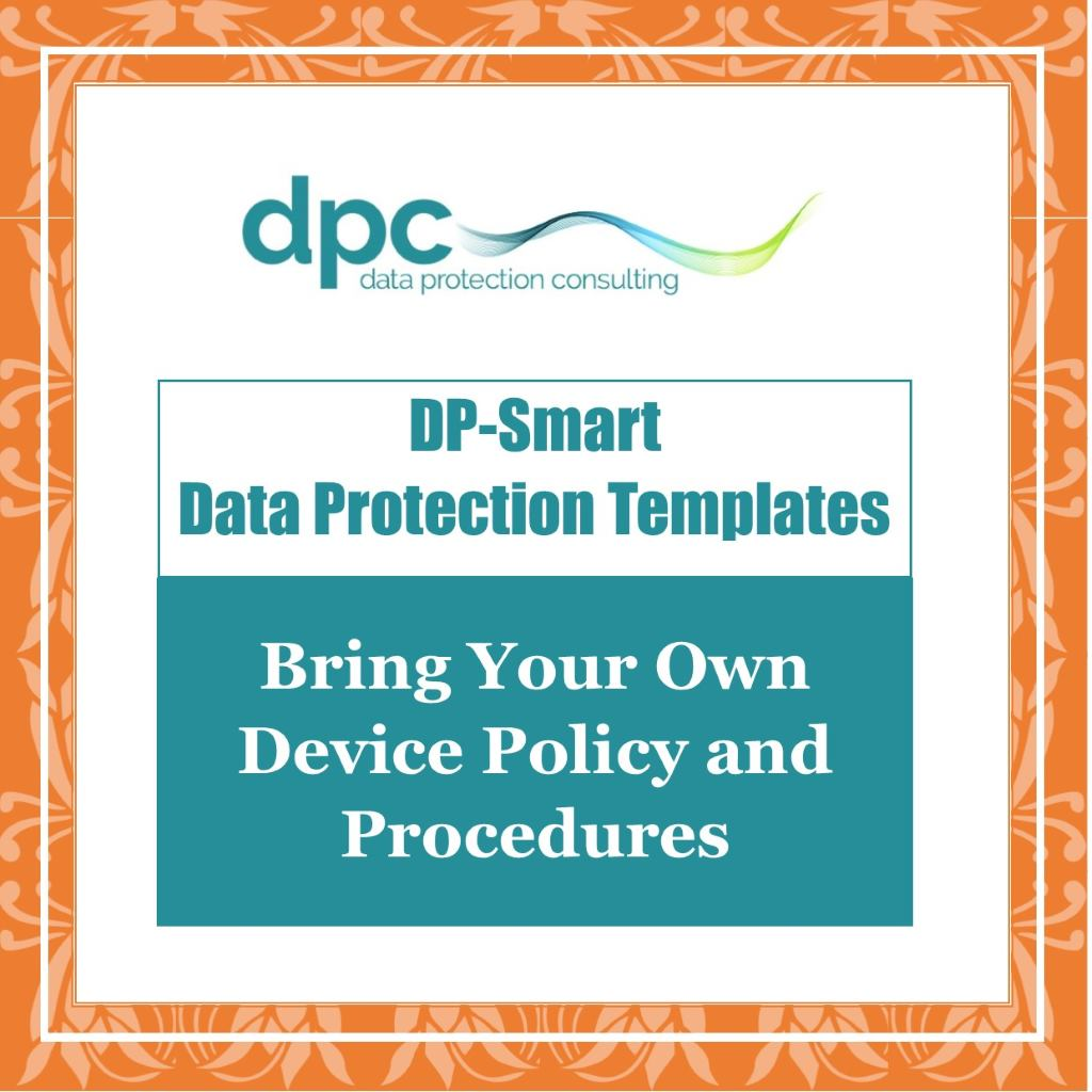 GDPR DP Smart Templates - Bring your own device policy and procedures