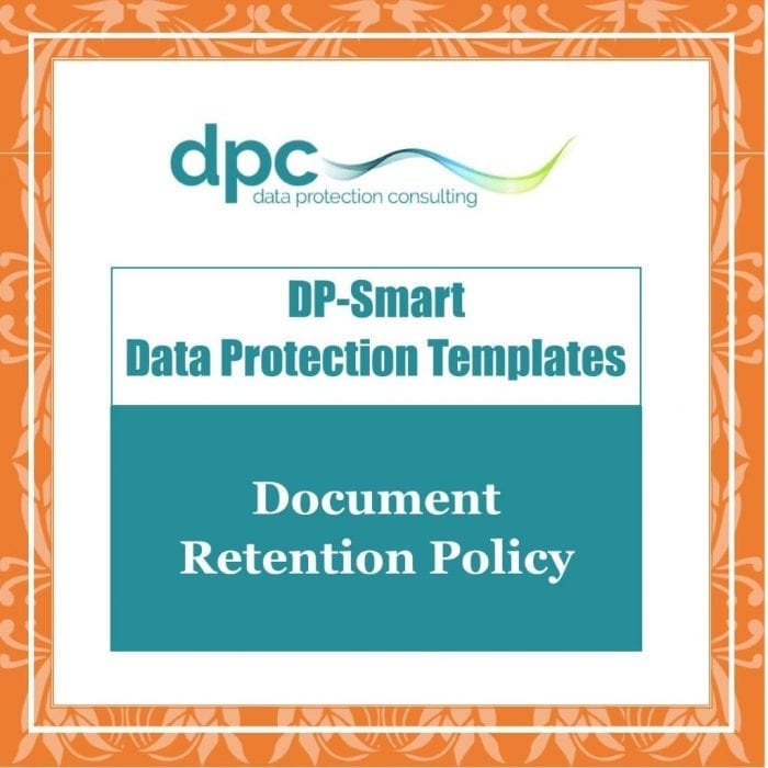 GDPR DP Smart Templates - Document Retention Policy