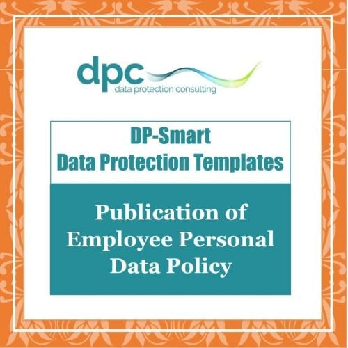 GDPR DP Smart Templates - Policy on the Publication of Employee Personal Data