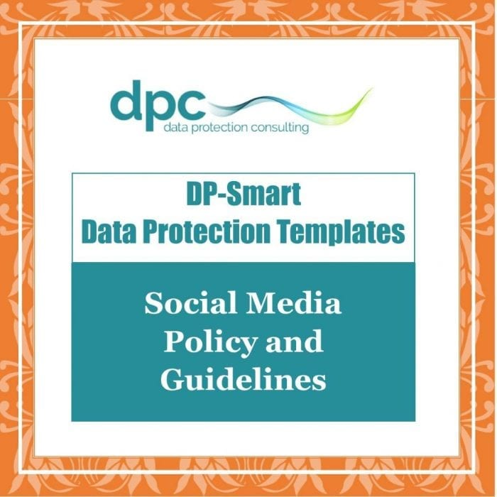 GDPR DP Smart Templates - Social Media Policy and Guidelines