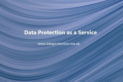 Background of blue wave with Data Protection as a Service and website address